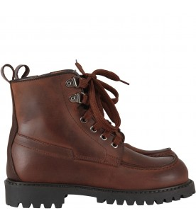 Brown ankle boots for boy