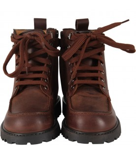 Brown boy ankle boots