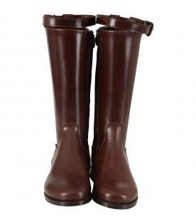 Brown boots for girl