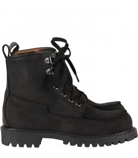 Black ankle boots for boy