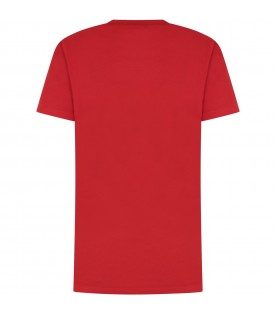 Red kids T-shirt with logo