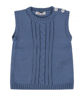 Light blue vest for baby boy