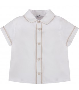 White shirt for baby kid