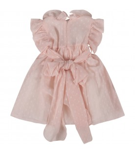 Pink dress for baby girl