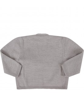 Grey cardigan for baby kid