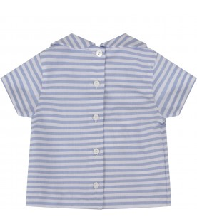 Light blue and white shirt for baby boy