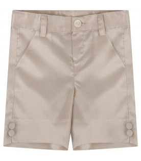 Beige short for babyboy