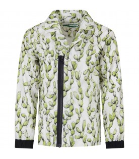 White kids windbreaker with cactus