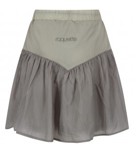 Green girl skirt with logo