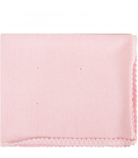 Pink babygirl blanket with embroidery