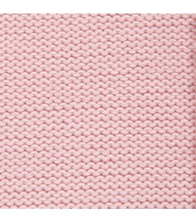 Pink blanket for babygirl with embroidery