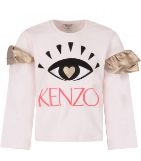 Pink girl sweatshirt with iconic eye