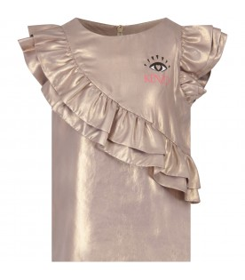 Gold girl t-shirt with eye and logo