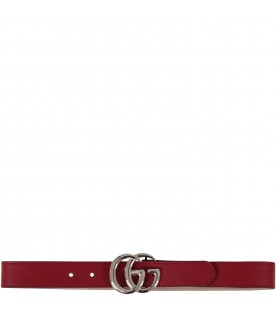 Red kids belt with GG