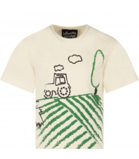 Ivory boy T-shirt with car