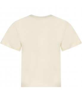 Ivory boy T-shirt with hause