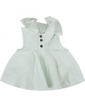 Green water baby girl dress