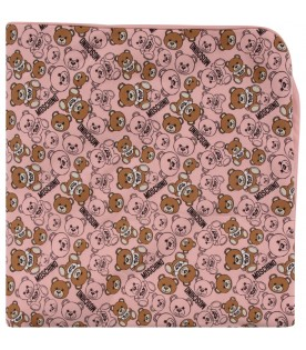 Pink babygirl blanket with Teddy Bears