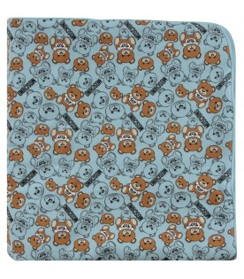 Light blue babyboy blanket with Teddy Bears