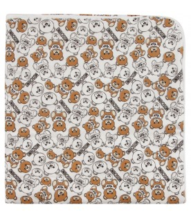 White babykids blanket with Teddy Bears