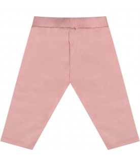 Pink sweatpant with Teddy bear for baby girl