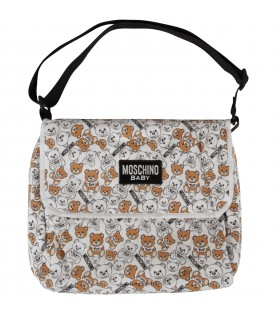 White changing bag with Teddy Bears for baby kid