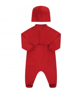 Red babygirl suit with logo
