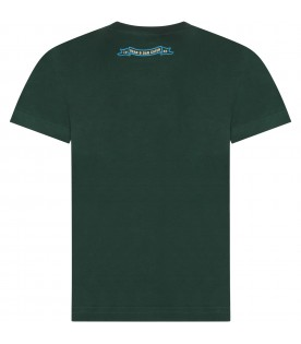 Green boy T-shirt with ivory logo