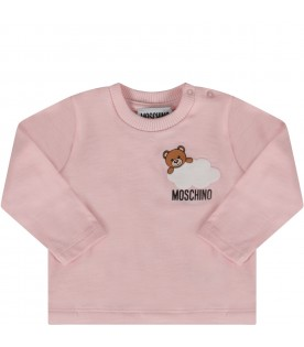 Pink babygirl T-shirt with Teddy bear