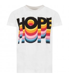 White kids T-shirt with writing