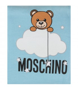Light blue babyboy blanket with teddy bear