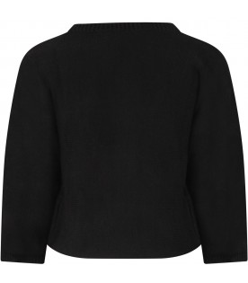 Black girl sweater with logo
