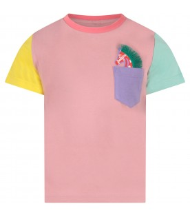 T-shirt color block per bambina