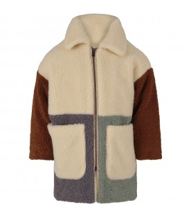 Color block coat for boy