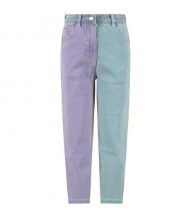 Color block jeans for girl
