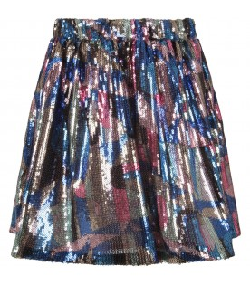 Multicolor skirt with sequins