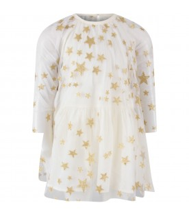 White dress for girl with stars
