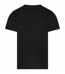 Black -shirt with logo for girl