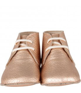Pink-gold shoes for babygirl