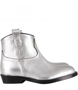 Silver texan boots for girl