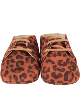 Brown shoes for babygirl