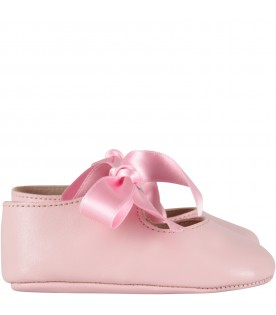 Pink ballerina shoes for baby girl