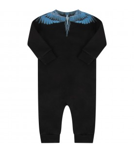 Black babygrow for baby boy with iconic wings