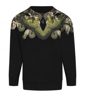 Black sweatshirt for boy with iconic snakes