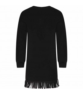 Black girl dress with sequined logo