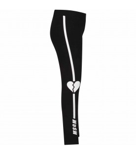Black girl leggings with white logo