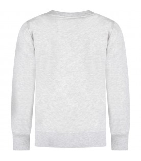 Grey kids sweatshirt with logo
