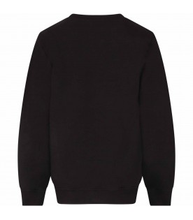 Black kids sweatshirt with white logos