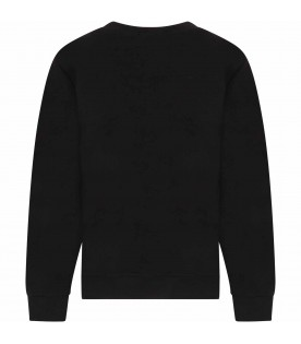 Black kids sweatshirt with logo