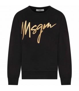 Black girl sweatshirt with gold logo